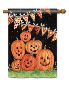 Party Time Pumpkins Standard Flag