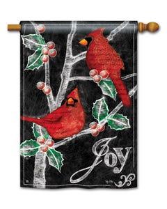 CLR Christmas Cardinals Standard Flag