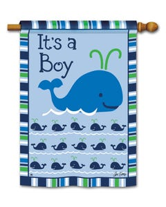 CLR Whales - It's a Boy Standard Flag