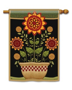 CLR Primitive Sunflowers Standard Flag