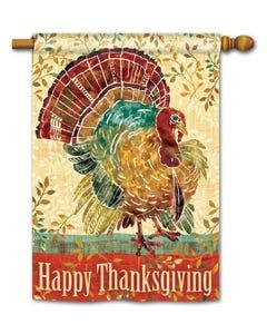 CLR Thanksgiving Turkey DS Stndard Flag