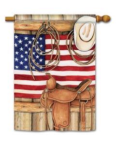CLR American Cowboy Standard Flag