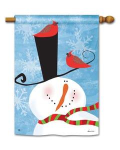 CLR Snowman Whimsy Standard Flag