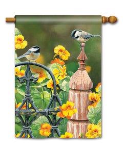 CLR Chickadee Fence Post Standard Flag