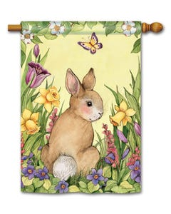 Springtime Bunny Standard Flag