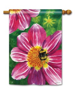 CLR Pink Flower with Bee Standard Flag