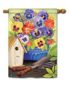 CLR Pretty Pansy and Birdhouse Standard Flag