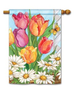 CLR Fresh Tulips Standard Flag