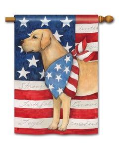 CLR Patriotic Pup Standard Flag