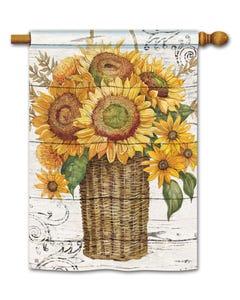 Farmhouse Sunflower Standard Flag