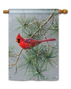 Winter Red Bird Standard Flag