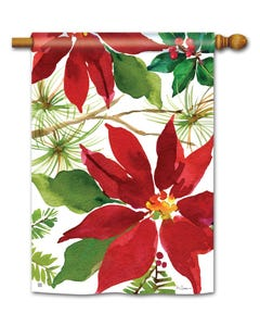 Pretty Poinsettia Standard Flag
