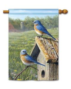 Summer Bluebirds Standard Flag