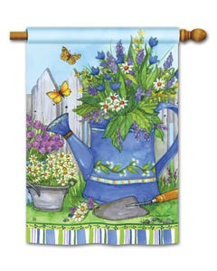Painted Watering Can Standard Flag