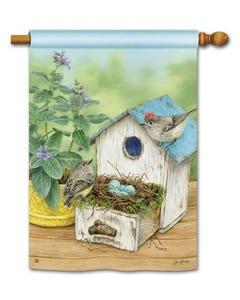Birdhouse Nest Standard Flag