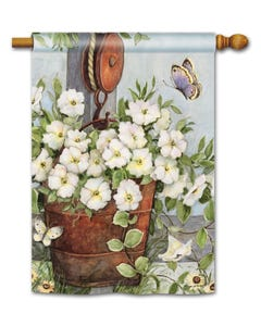 Petunias on Pulley Standard Flag