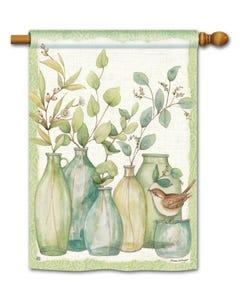 Eucalyptus Vases Standard Flag