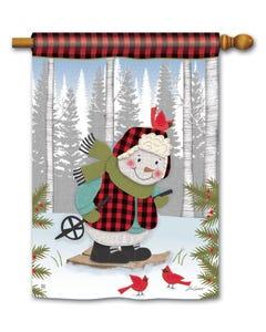 Winter Fun Snowman Standard Flag