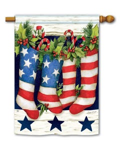 Patriotic Stockings Standard Flag