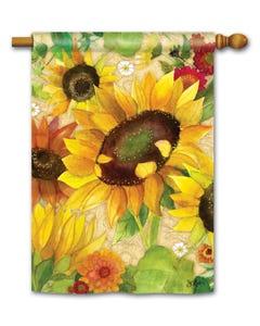Yellow Sunflower Standard Flag