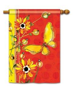 CLR Yellow Butterfly Standard Flag