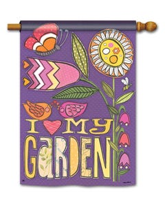 CLR Love My Garden Standard Flag