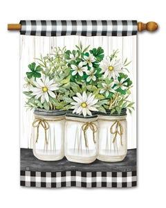 Farmhouse Daisies Standard Flag