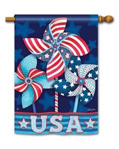 Patriotic Pinwheels Standard Flag
