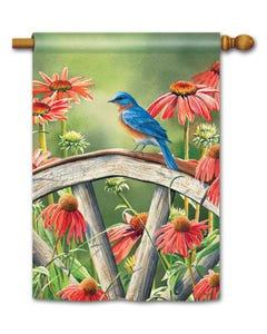 Bluebird Visit Standard Flag