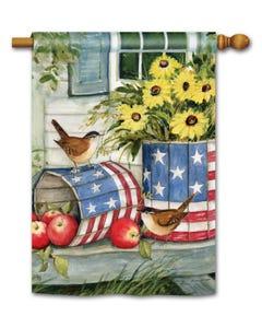 Patriotic Planters Standard Flag