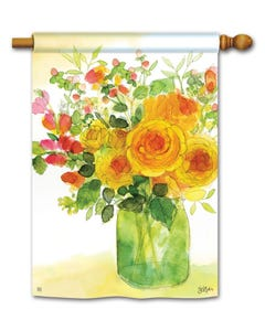 Yellow Roses Standard Flag