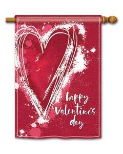 Valentine Heart Standard Flag