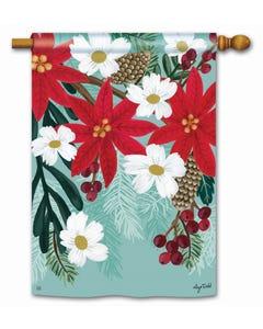 Poinsettia Bloom Standard Flag