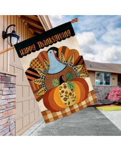 Thanksgiving Turkey Standard Flag