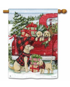 Christmas Puppies Standard Flag