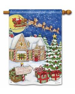 Santa's Workshop Standard Flag