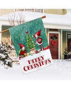 Christmas Elves Standard Flag