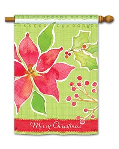CLR Christmas Flower DS Standard Flag