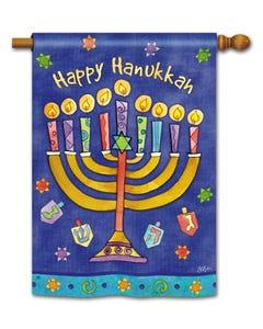 CLR Happy Hanukkah Standard Flag
