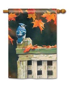 CLR Autumn Blue Jay Standard Flag