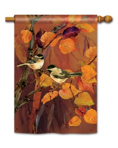 CLR Autumn Chickadees Standard Flag