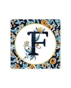POD Indigo Elegance Mono F Art Coaster