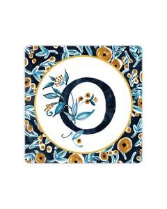 POD Indigo Elegance Mono O Art Coaster