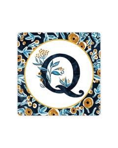 POD Indigo Elegance Mono Q Art Coaster