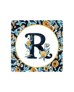 POD Indigo Elegance Mono R Art Coaster
