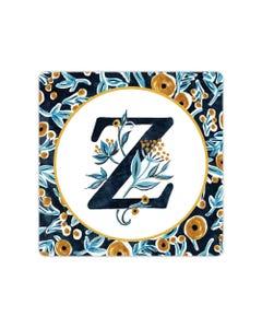 POD Indigo Elegance Mono Z Art Coaster