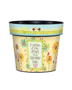 "Grandma's Garden 6"" Art Pot"