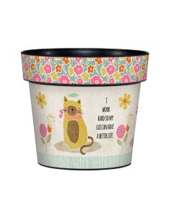 "Cat Mom 6"" Art Pot"