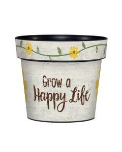 "Grow a Happy Life 6"" Art Pot"