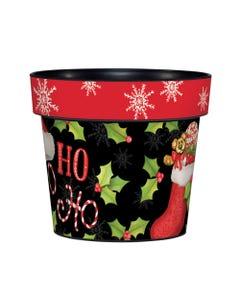 """Ho Ho Holly 6"""" Art Pot"""